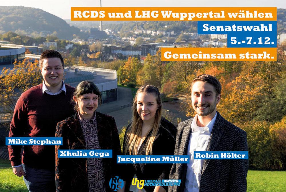 Wahlplakat der Liste RCDS und LHG Wuppertal